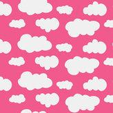 Rosa jersey med vita moln