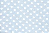 Ljusblå jersey med vita prickar