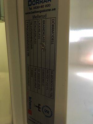 Ståldörr 9x21 HH