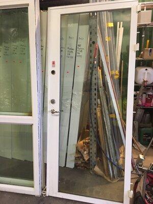 Dörr Stål/Glas 100x250