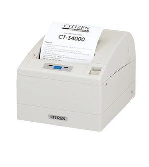 Citizen CT-S4000/L, USB, RS232, 8 dots/mm (203 dpi), cutter, white