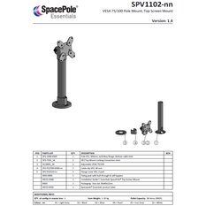 SpacePole VESA, Top mount, Black