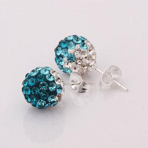 DISCOBOLLÖRHÄNGEN - Turkos/Crystal