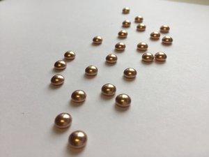 HALVPÄRLA | Crystal Rose Gold, 6 mm