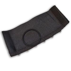 HAIRCUFF - svart Crystal 6 cm
