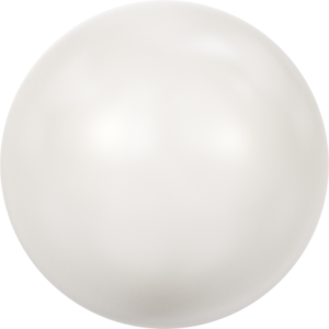 SS10 Crystal White Pearl, Cabochon