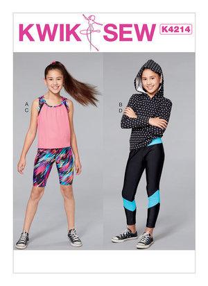 Huvtröja, linne, caprishorts och leggings. 3-10 år
