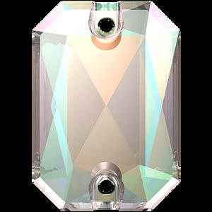 3252 EMERALD CUT Crystal AB 28x20 mm
