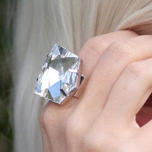 DIAMOND - Crystal  /ring 27 mm
