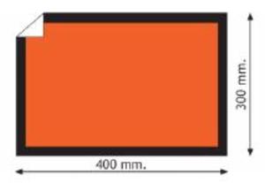 ADR Etikett 40x30 cm - 25 st