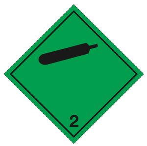 Klasse 2.2 - Skilt 25x25 cm - 25 stk