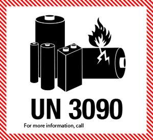 Litiumbatteri UN 3090