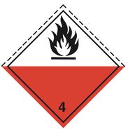 Luokka 4.2 - Varoituslipukkeet - 25 kpl