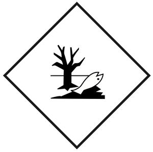 Ympäristölle vaarallinen - 25x25 cm - 25 kpl