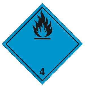 Luokka 4.3 - Varoituslipukkeet 25x25 cm - 25 kpl
