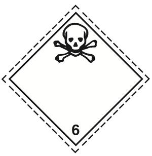 Luokka 6.1 - Varoituslipukkeet 25x25 cm - 25 kpl