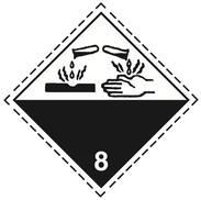 Luokka 8 - Varoituslipukkeet - 25 kpl