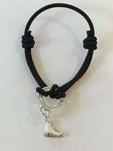 Exklusivt armband med svart band
