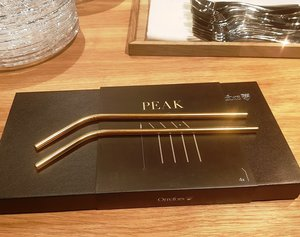 Peak Straw Gold incl Cleaning brush  4-pack