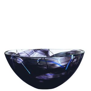 Contrast Bowl Black Large - Kosta Boda