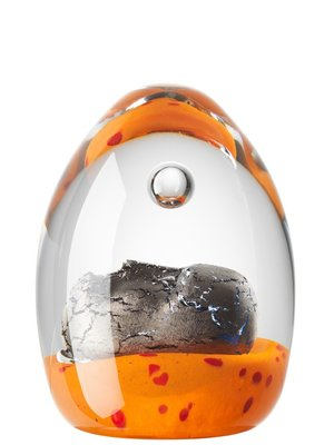 Dreamer Orange Brains Huvud Papperspress - Kosta Boda