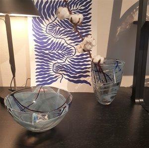 Contrast Bowl Grey Small  - Kosta Boda