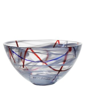 Contrast Bowl Grey Large - Kosta Boda