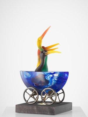 Mini-ark Fåglar Chatter Färgade Blå - Kosta Boda
