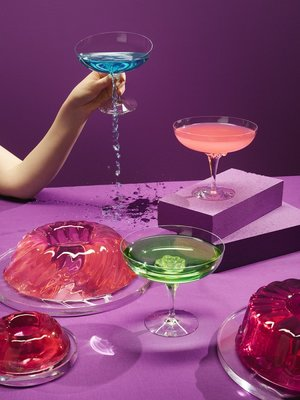 Sugar Dandy Champagne Coupe Pink