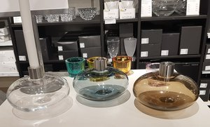 Pluto Candle Holder Clear - Kosta Boda