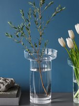 Limelight Vase Clear Rose
