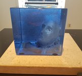 Blue Cube Head in Water