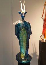 Angel with Deer head Blue