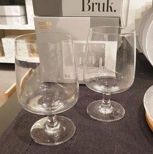 Bruk Drinking Glass Large Clear Foot 4-pack  - Kosta Boda