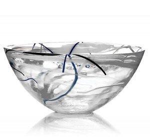 Contrast Bowl White Large - Kosta Boda
