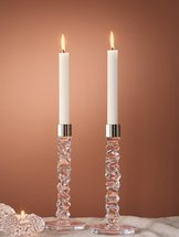 Carat Candlestick Clear 2-pack