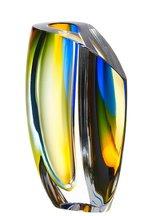 Mirage Vase Blue/Amber Big