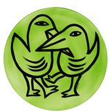Final  Peace Plate Birds Green