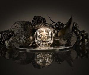 Still Life Votive Clear Skull - Kosta Boda