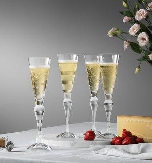Clown Champagne Frost Cirklar - Orrefors Champagneglas