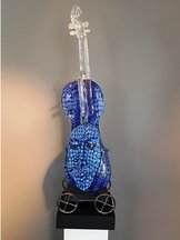 Violin Blue with Head
