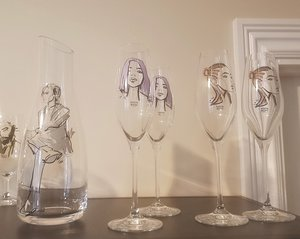All about you Forever mine Champagne Glass Lavendel 2-pack  - Kosta Boda