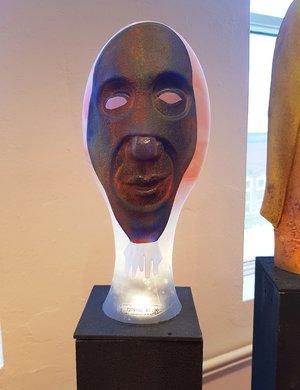 Skulptur med Mask - Kosta Boda