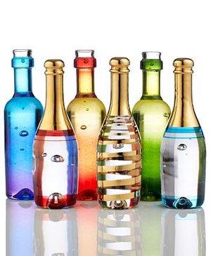 Celebrate Wine Bottle Blue - Kosta Boda