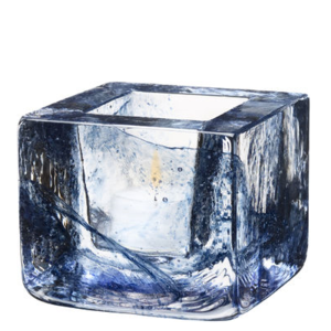 Brick Votive Blue - Kosta Boda