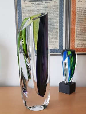 Saraband Vase Purple Green -  Kosta Boda
