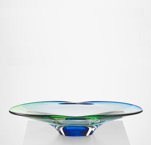 Summer Breeze Plate Green/Blue  - Kosta Boda Limited