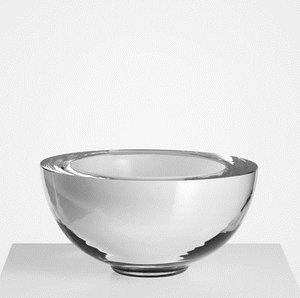 Solid Bowl White Blast Inside - Kosta Boda