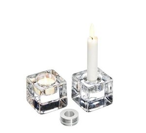 Ice Cube Votive Clear