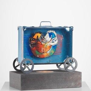 Suitcase Blue Grey - Kosta Boda